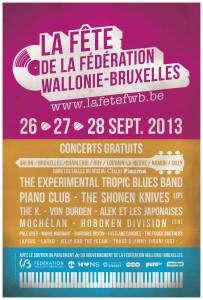 Affiche de la Fête de la Fédération Wallonie-Bruxelles 2013